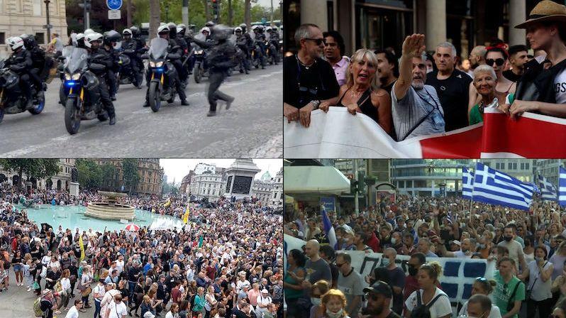 Evropa kvůli šíření indické mutace delta zpřísňuje opatření, přibývá protestů