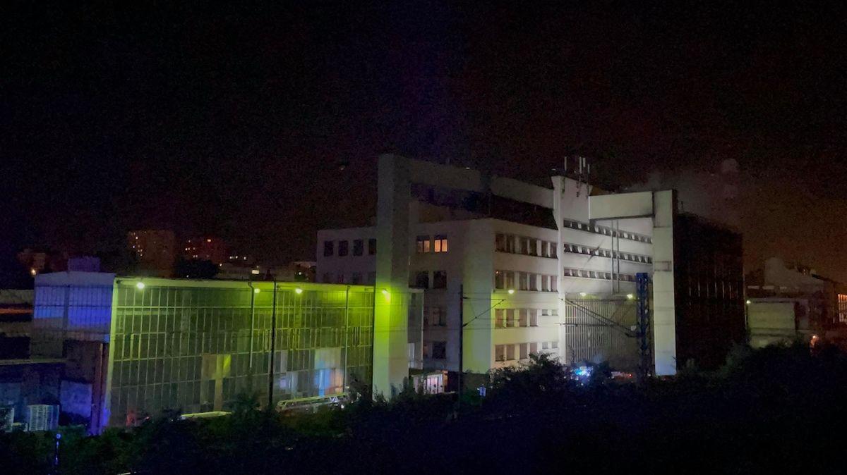 V pražských Záběhlicích hořelo v průmyslovém areálu
