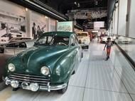 První sériově vyráběný model Saab 92 z počátku roku 1950.