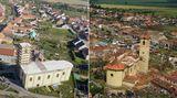 Letecké záběry: Moravská Nová Ves dva apůl měsíce po tornádu atěsně po něm