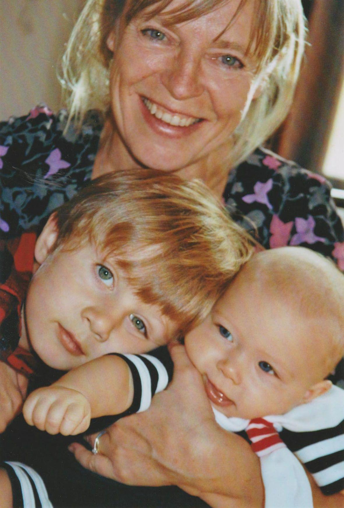 S vnoučaty Rebekou a Zachariášem.