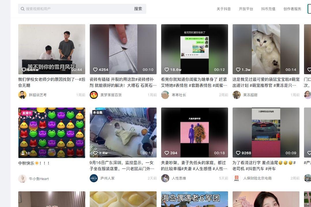 Aplikace Douyin je čínská obdoba TikToku.