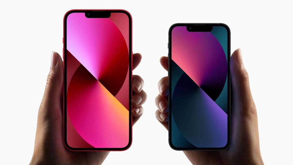 Porovnání iPhonu 13 a iPhonu 13 mini