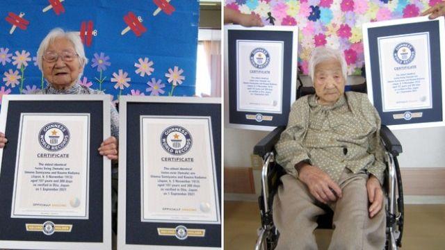 Sestry z Japonska jsou nejstaršími žijícími jednovaječnými dvojčaty na světě
