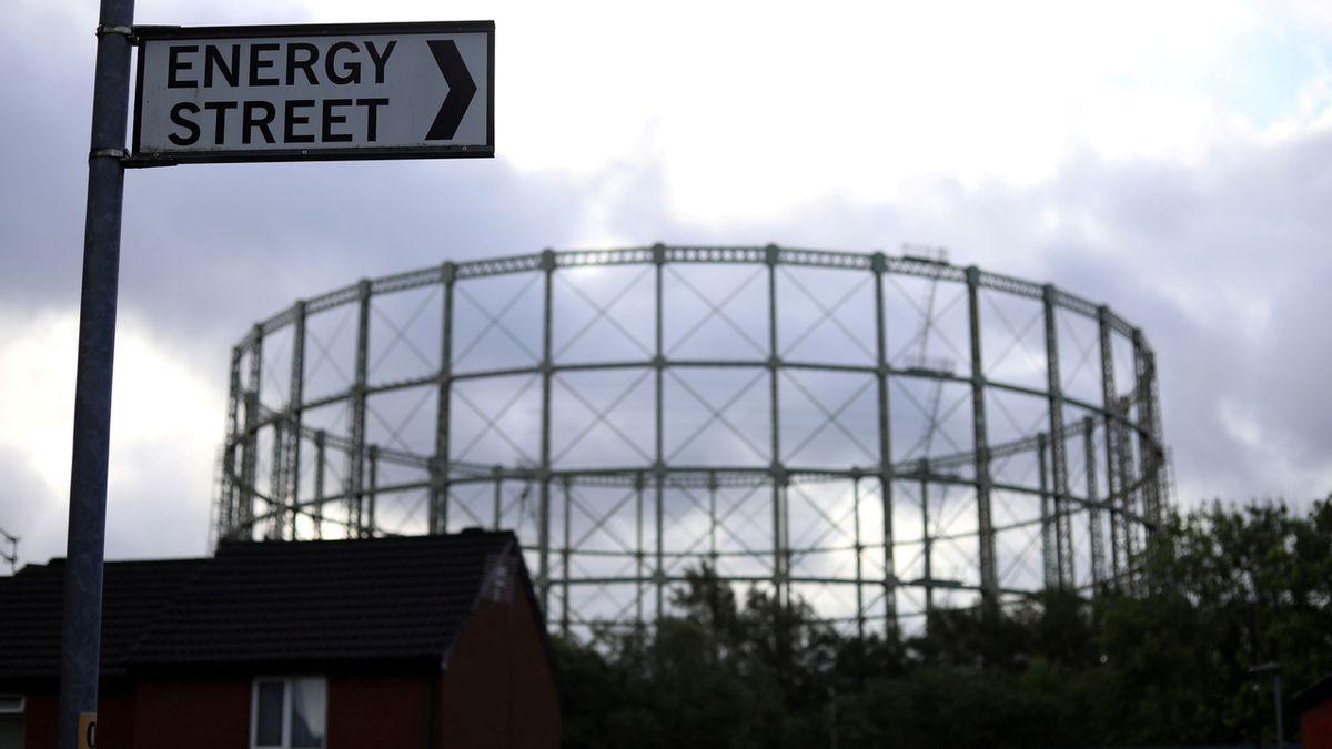 Nevyužívaný plynojem v Manchesteru
