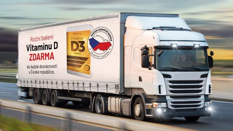 ZNorska míří do Čech kamiony plné imunity. Vitamín Dbude pro všechny rodiny zdarma. Jak ho získat?