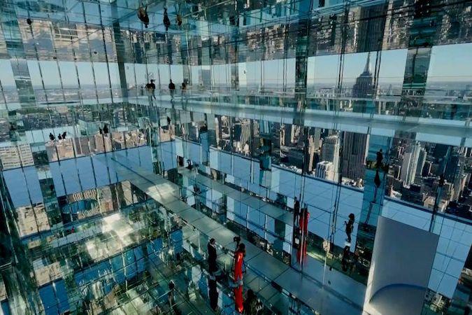 BEZ KOMENTÁŘE: V New Yorku otevřeli novou prosklenou observatoř se zrcadly