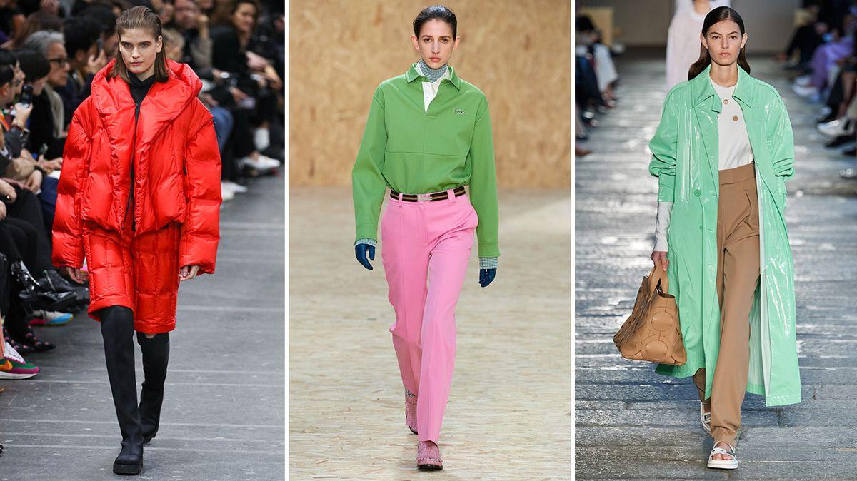 Zimní móda ve znamení barev