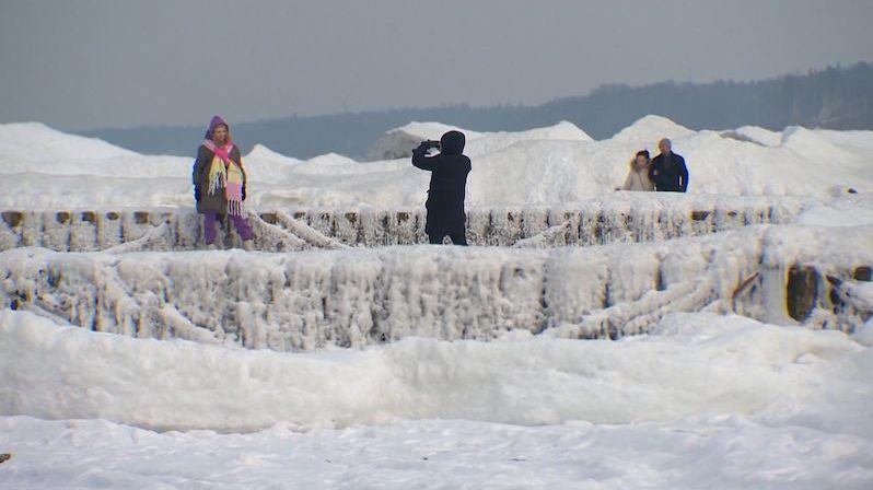 V Kaliningradu po 25 letech zamrzlo Baltské moře