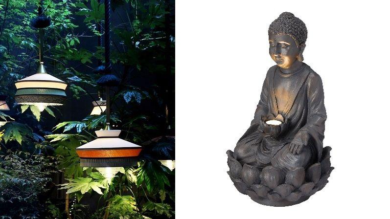Venkovní osvětlení v orientálním stylu plní i dekorativní funkci