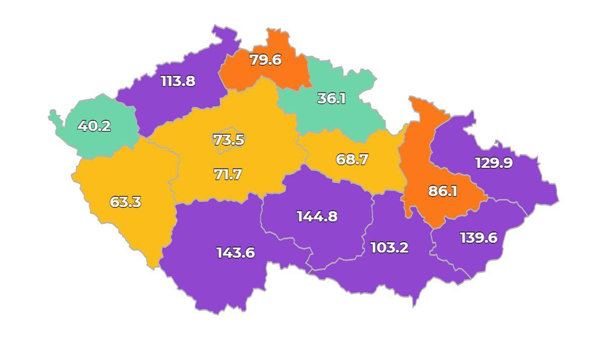 Přibylo 1532, Česko prolomilo hranici 100 nakažených na 100 tisíc obyvatel