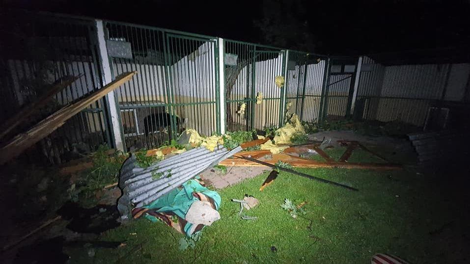 Bouře o pár desítek metrů minula výběhy hodonínské zoo, ve Vyškově utekl klokan
