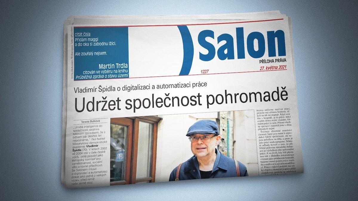 """Vychází nový Salon: Vladimír Špidla o budoucnosti práce i """"nová romantika"""" v ženské pop music"""