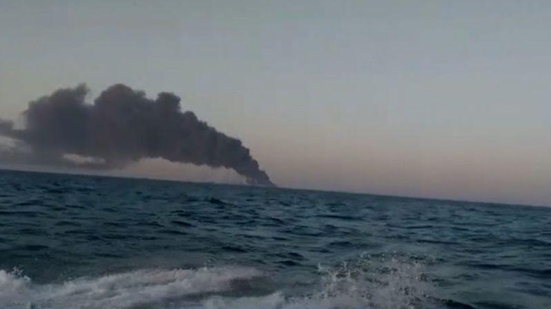 Potopila se největší loď íránského námořnictva