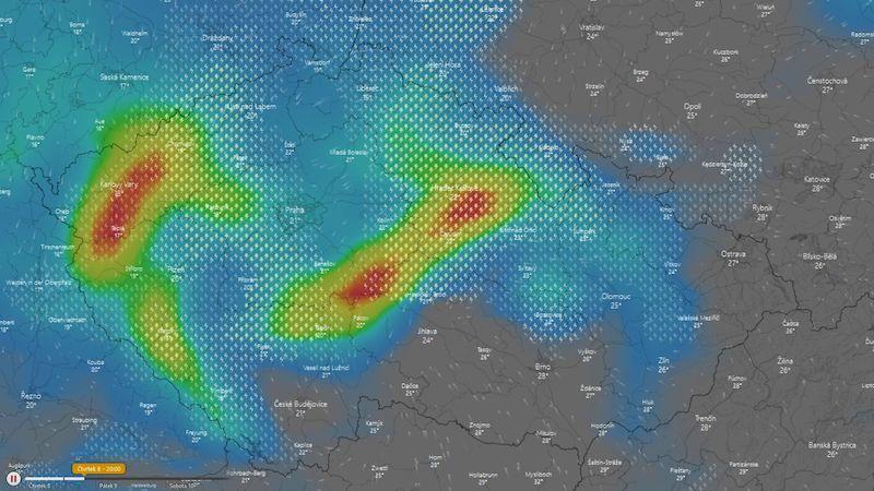 Tornáda se nedají vyloučit, upozorňuje Český hydrometeorologický ústav