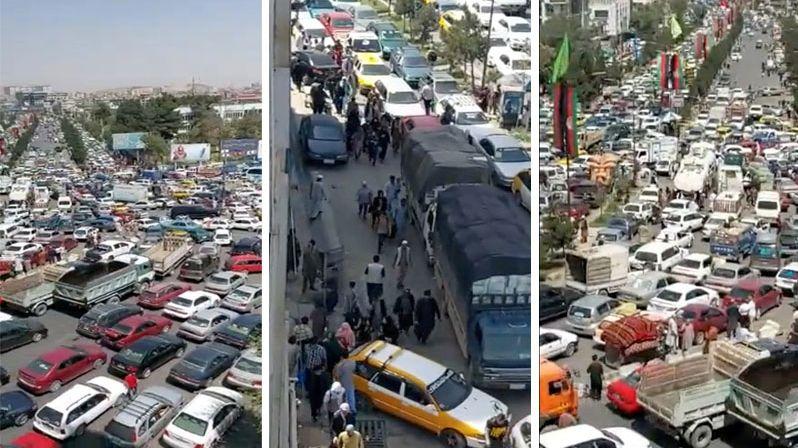 Ulice Kábulu nejprve zachvátila hysterie, pak se všichni před Tálibánem schovali