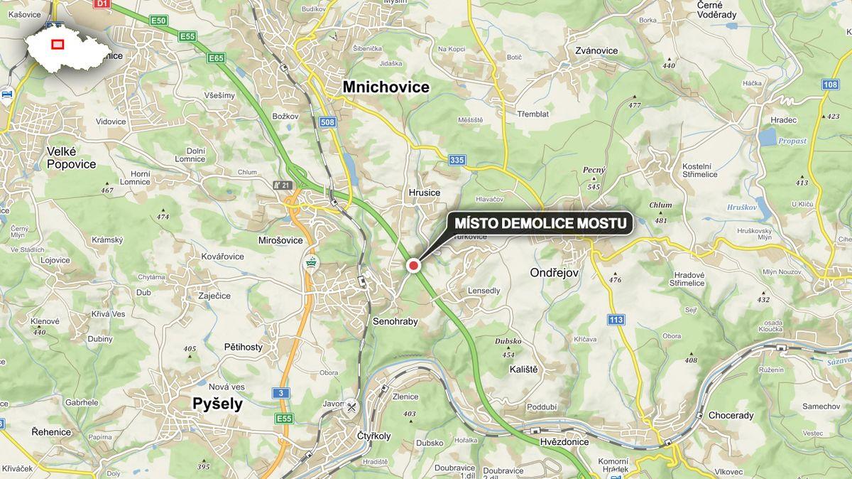 Začala dvoudenní uzavírka D1, od Mirošovic musí auta objížďkou