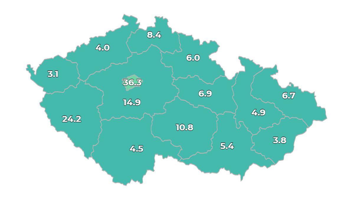 ON-LINE: V Česku přibylo 278 nově nakažených. Rusko hlásí rekordní počet úmrtí