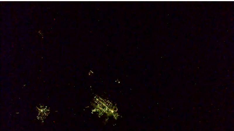 Jako na diskotéce: Kamera na ISS zaznamenala bouři nad Nebraskou