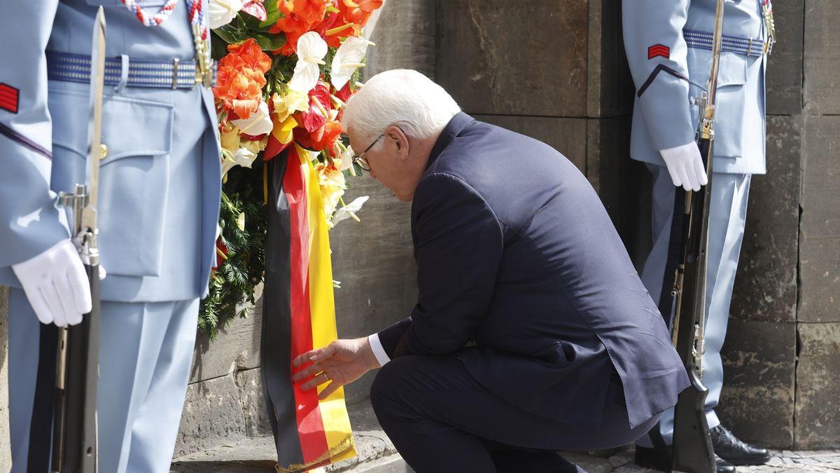 Německý prezident uctil památku parašutistů, kteří odstranili Heydricha