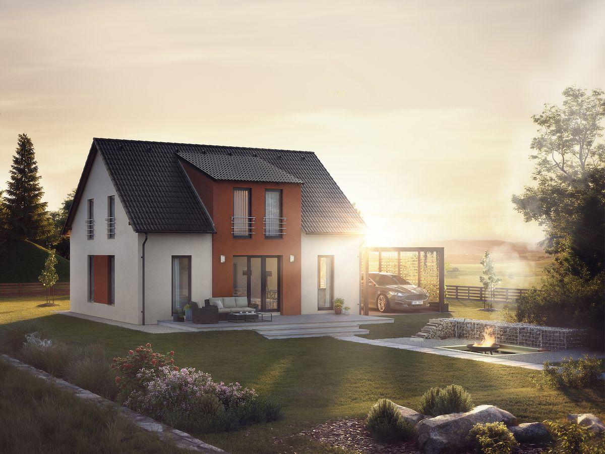 Rodinný dům CLASSIC má i klasickou verzi vhodnou do lokalit, kde není povolena plochá střecha, například v chráněné oblasti