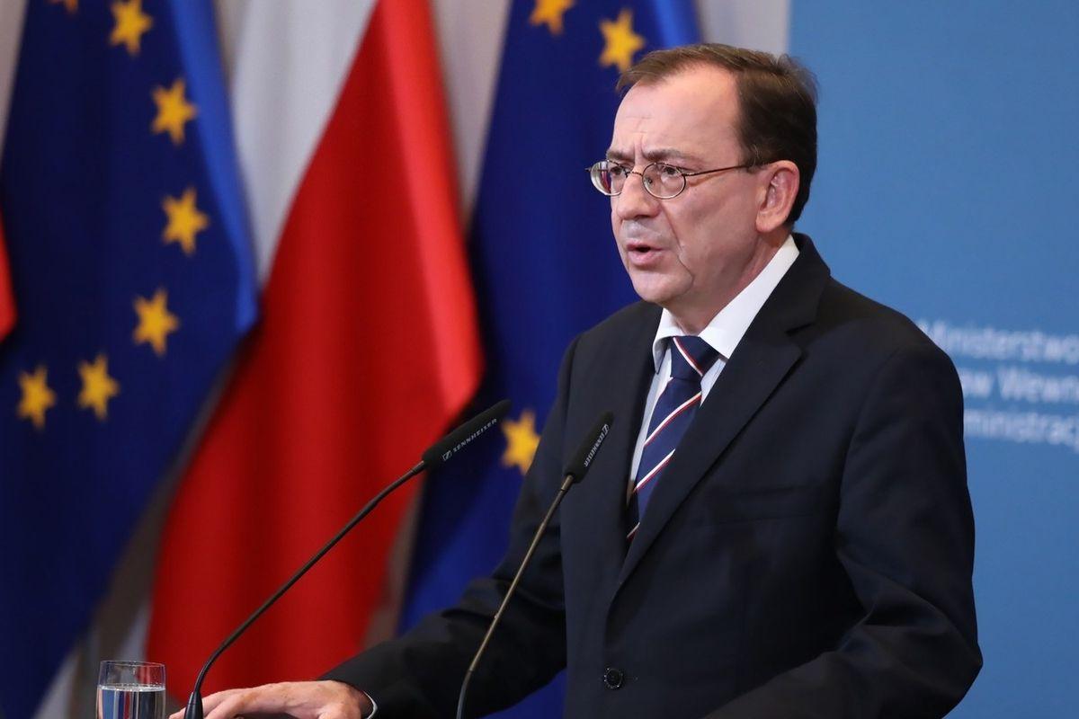 Polský ministr vnitra Mariusz Kaminski z konzervativní strany Právo a spravedlnost