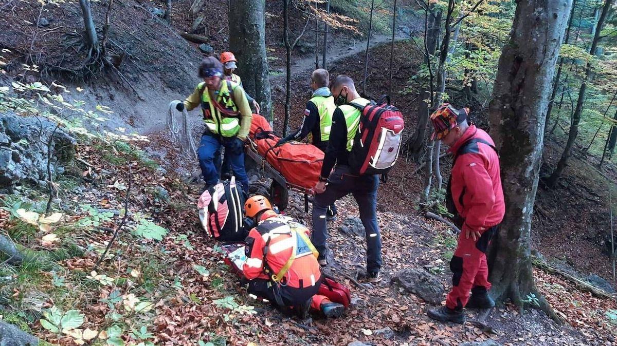 Slovenští záchranáři na místě neštěstí