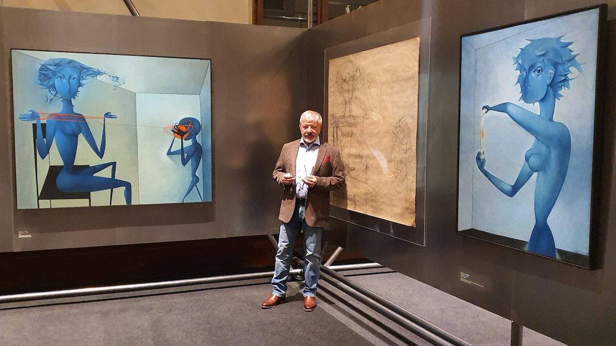 Vladimír Železný řekl o výstavě, z níž stáhl osm obrazů: Naše zkušenost byla příliš devastující