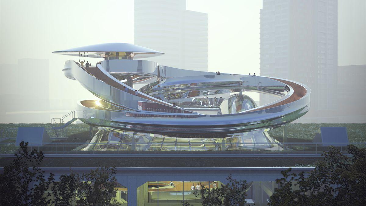 Rotterdam do čtyř let získá novou ikonu, jejíž dominantou bude velké točité schodiště