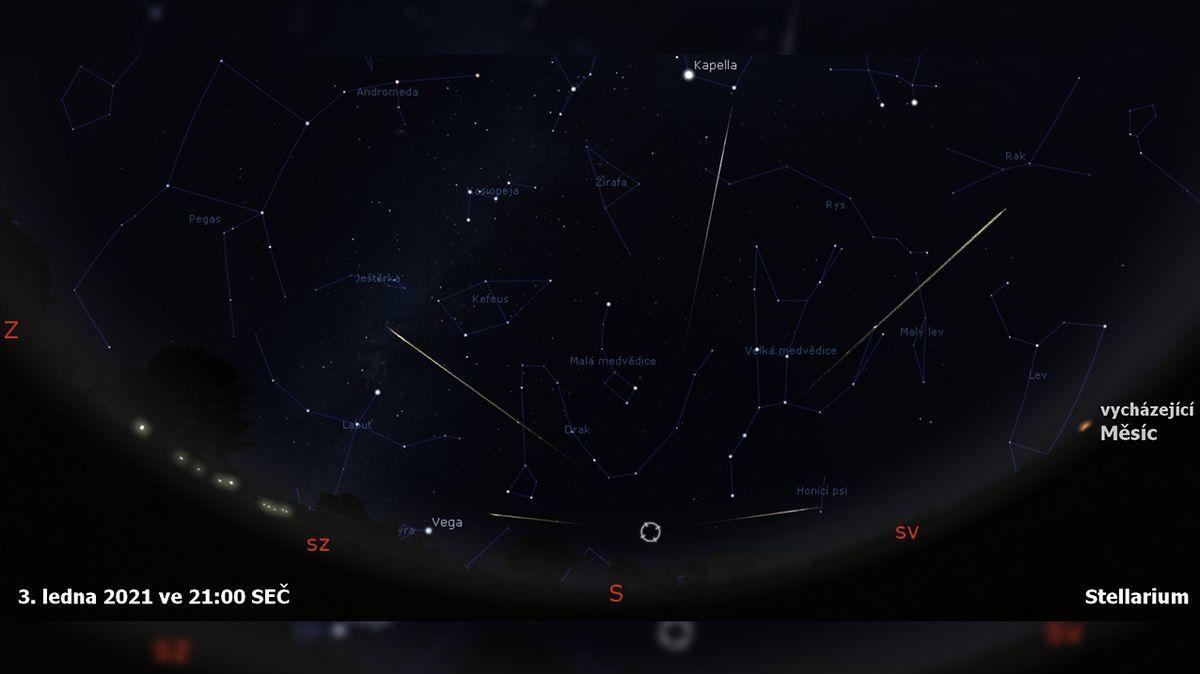 Nový rok vítá další meteorický roj. Kvadrantidy vrcholí v neděli