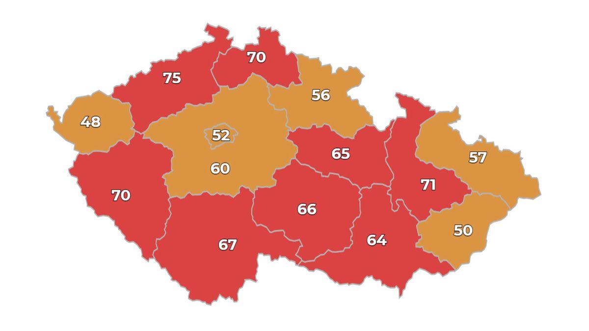 Česko má dalších 10 883 nově nakažených