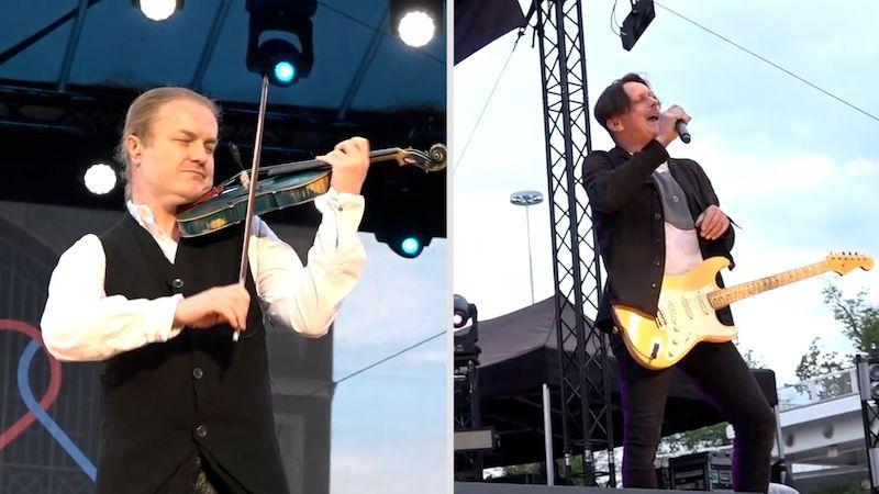 Kapela Chinaski vystoupila na koncertě pro 2000 lidí