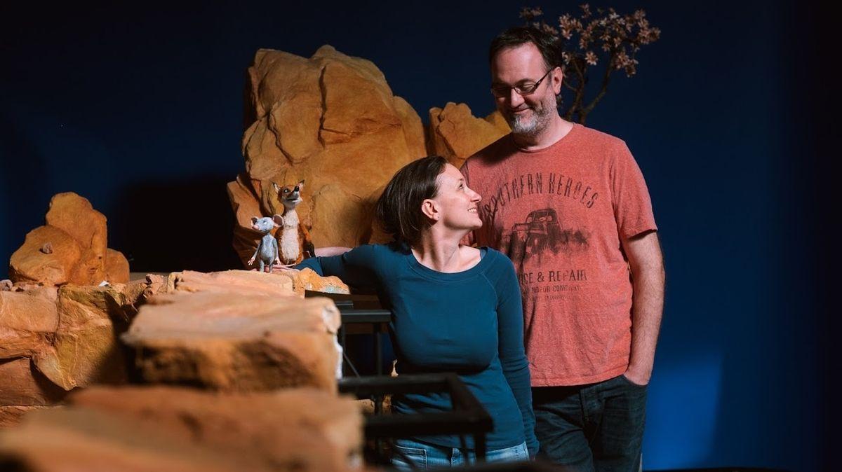 Výtvarníci Denisa Grimmová a Jan Bubeníček o svých Myších: Je to příběh o hledání lásky a odvahy