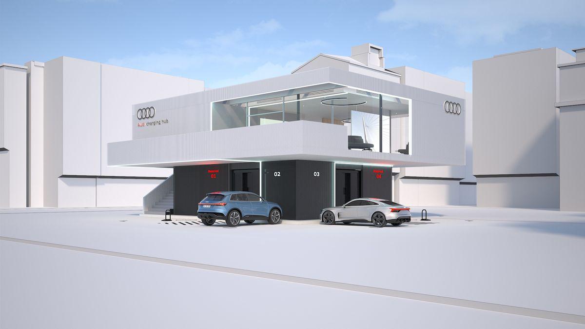 Audi chce zpříjemnit čas u nabíječky, vybuduje luxusní stanice