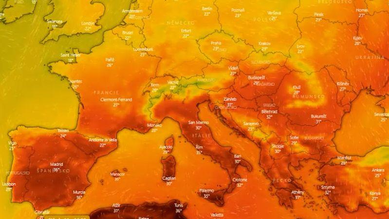 Na Sicílii naměřili evropský teplotní rekord