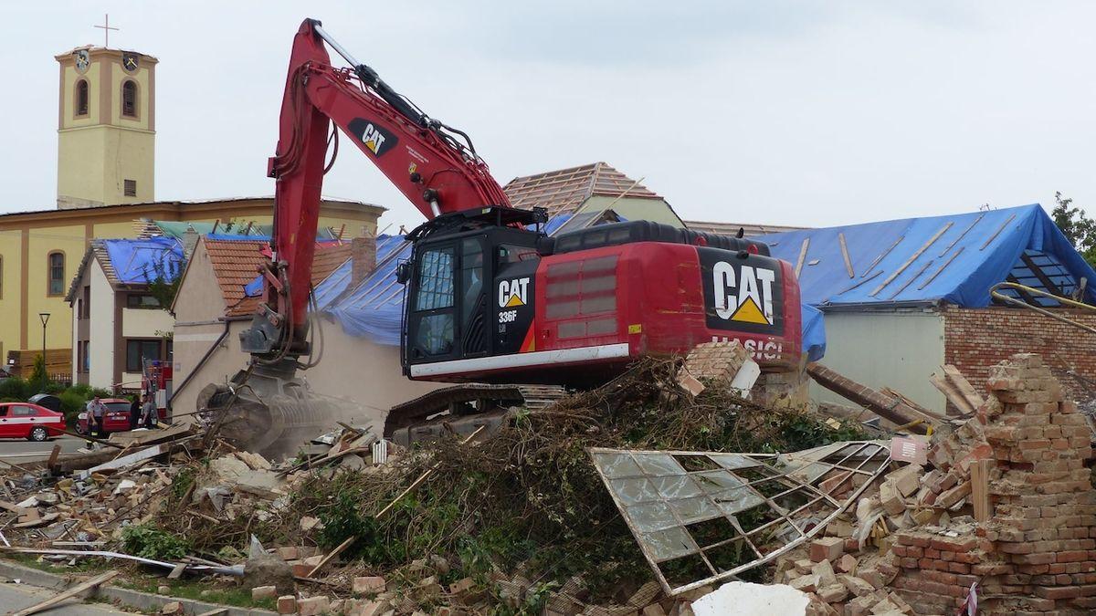 Demolice na jižní Moravě jsou téměř u konce