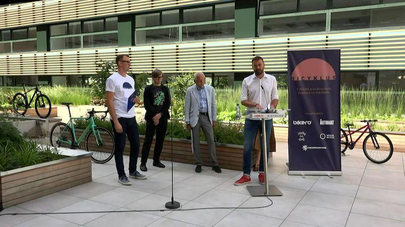 Tisková konference na téma Cyklisté a budoucnost dopravy ve městech