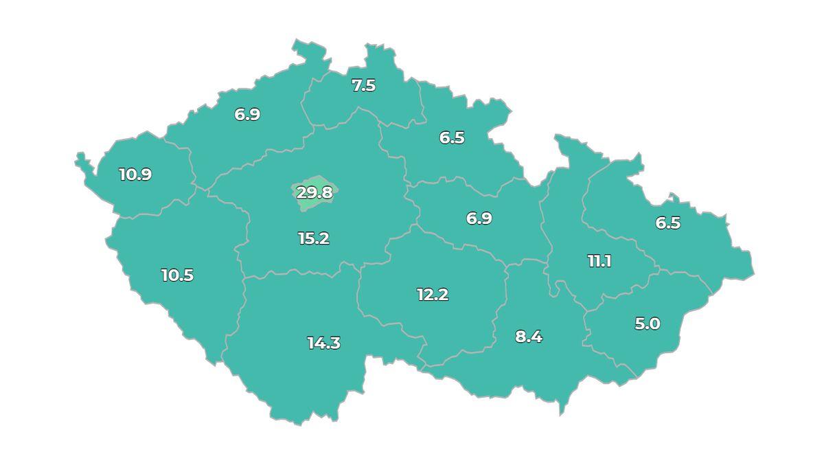 ON-LINE: V ČR přibylo 209 nově nakažených, Rusko hlásí další rekord v úmrtích