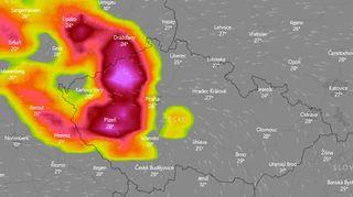Česko zasáhnou bouřky s krupobitím, na Příbramsku mohou být extrémně silné