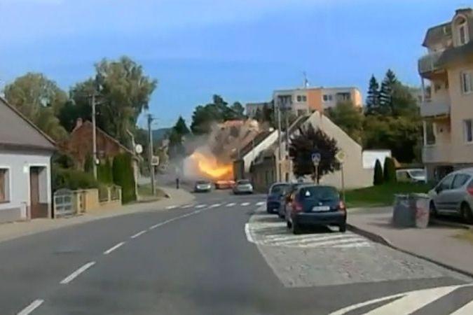 Výbuch plynu v domě v Koryčanech