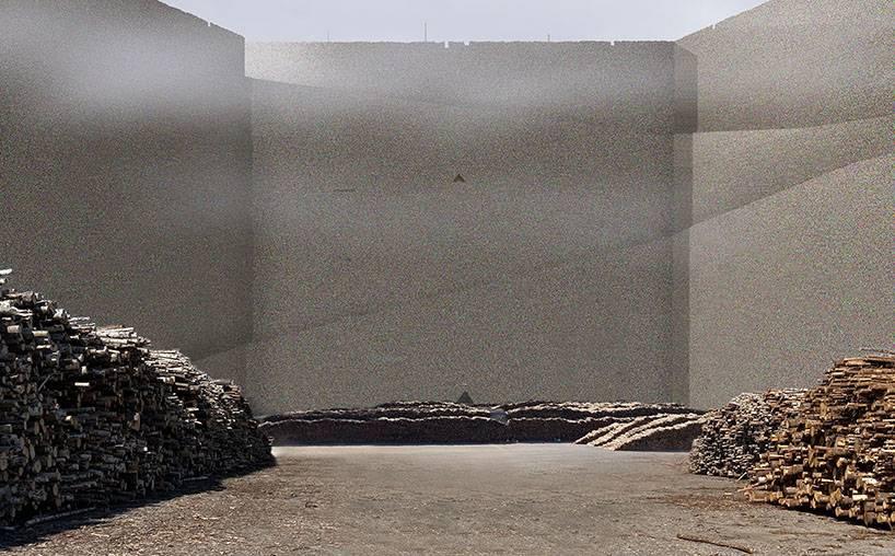 Rozměry banky dřeva by byly doslova gigantické.