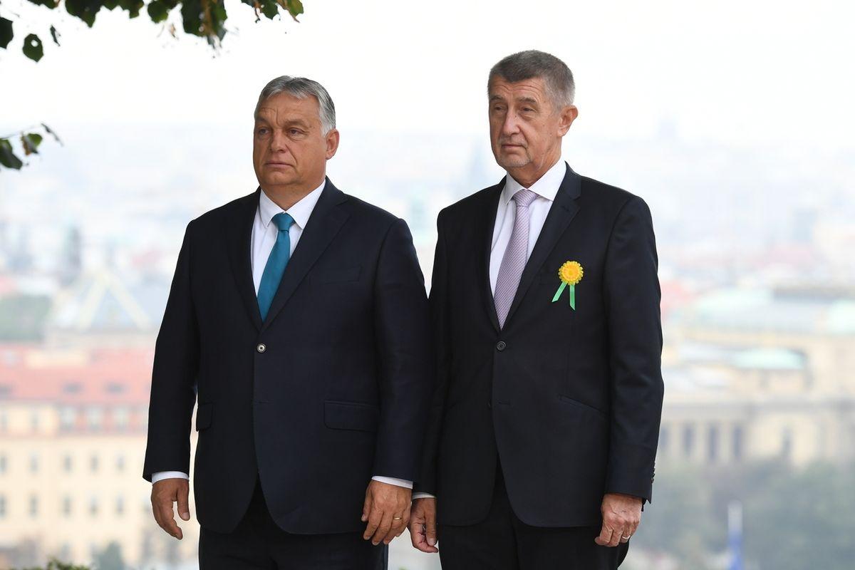 Premiér Andrej Babiš (ANO) přijal 29. září 2021 v Praze maďarského premiéra Viktora Orbána.
