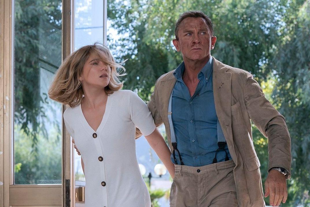 Léa Seydouxová a Daniel Craig jako filmoví partneři.