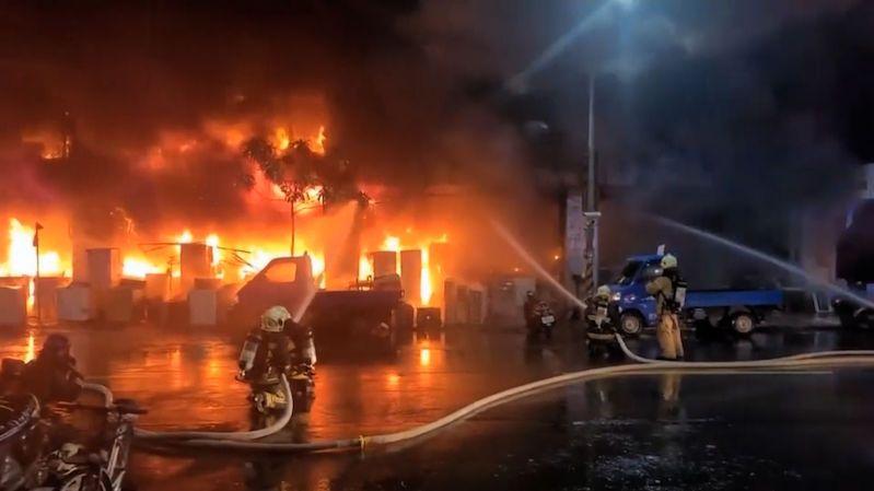 Požár výškové budovy na Tchaj-wanu