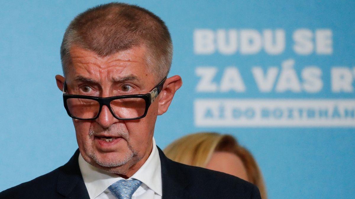 Premiér a lídr hnutí ANO Andrej Babiš
