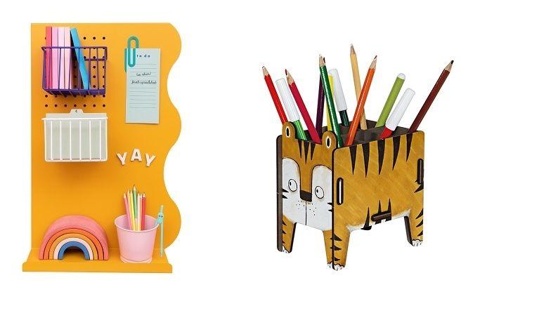 Kousky v optimistické žluté barvě prozáří pokoje malých školáků.