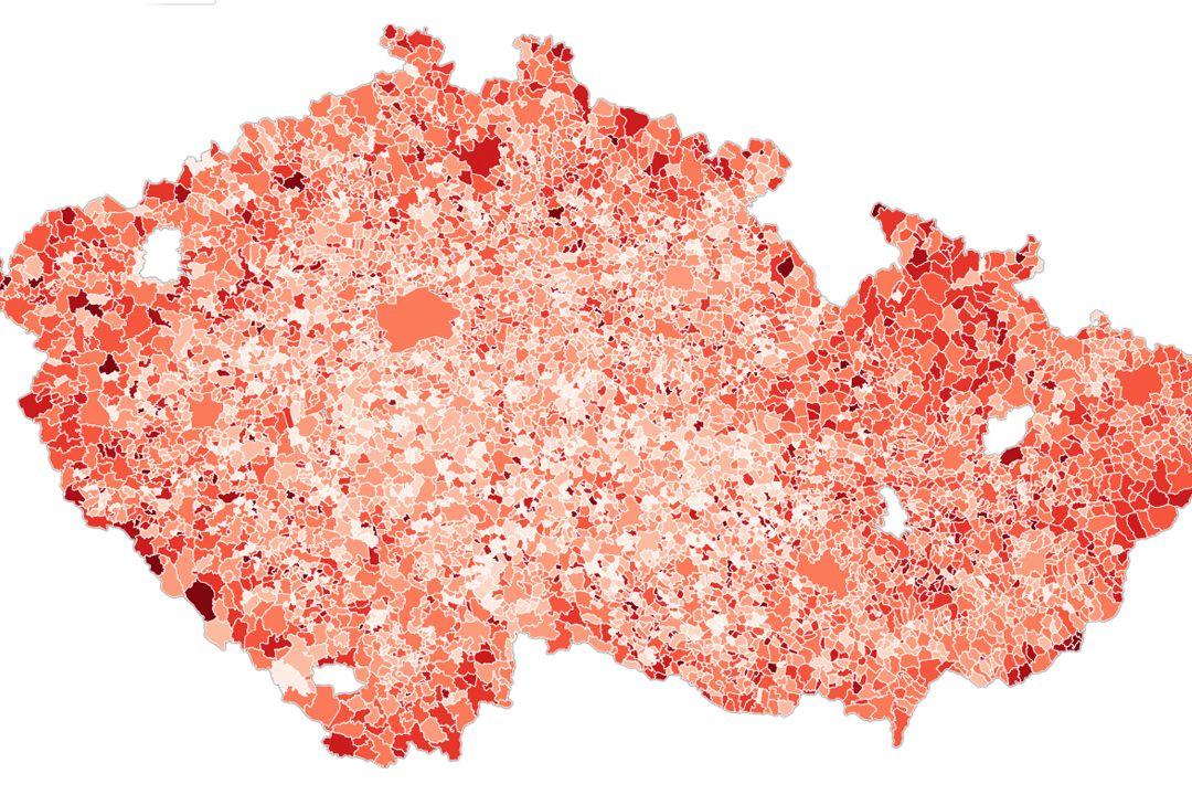 Jak si stojí vaše obec? Neočkovaní senioři nad 60 let převažují na 15 místech ČR