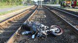 VOstravě havaroval motorkář. Při nehodě přišel onohu