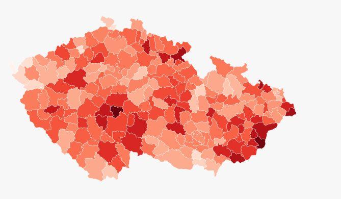 MAPA: Nakažení přibývají po celé republice
