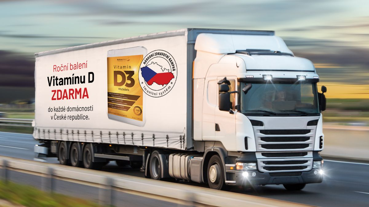 ZNorska míří do Čech kamiony plné imunity. Vitamín Dbude pro všechny rodiny zdarma! Jak ho získat?